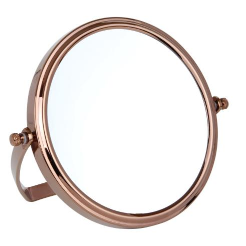 10x Magnification Rose Gold Travel Mirror