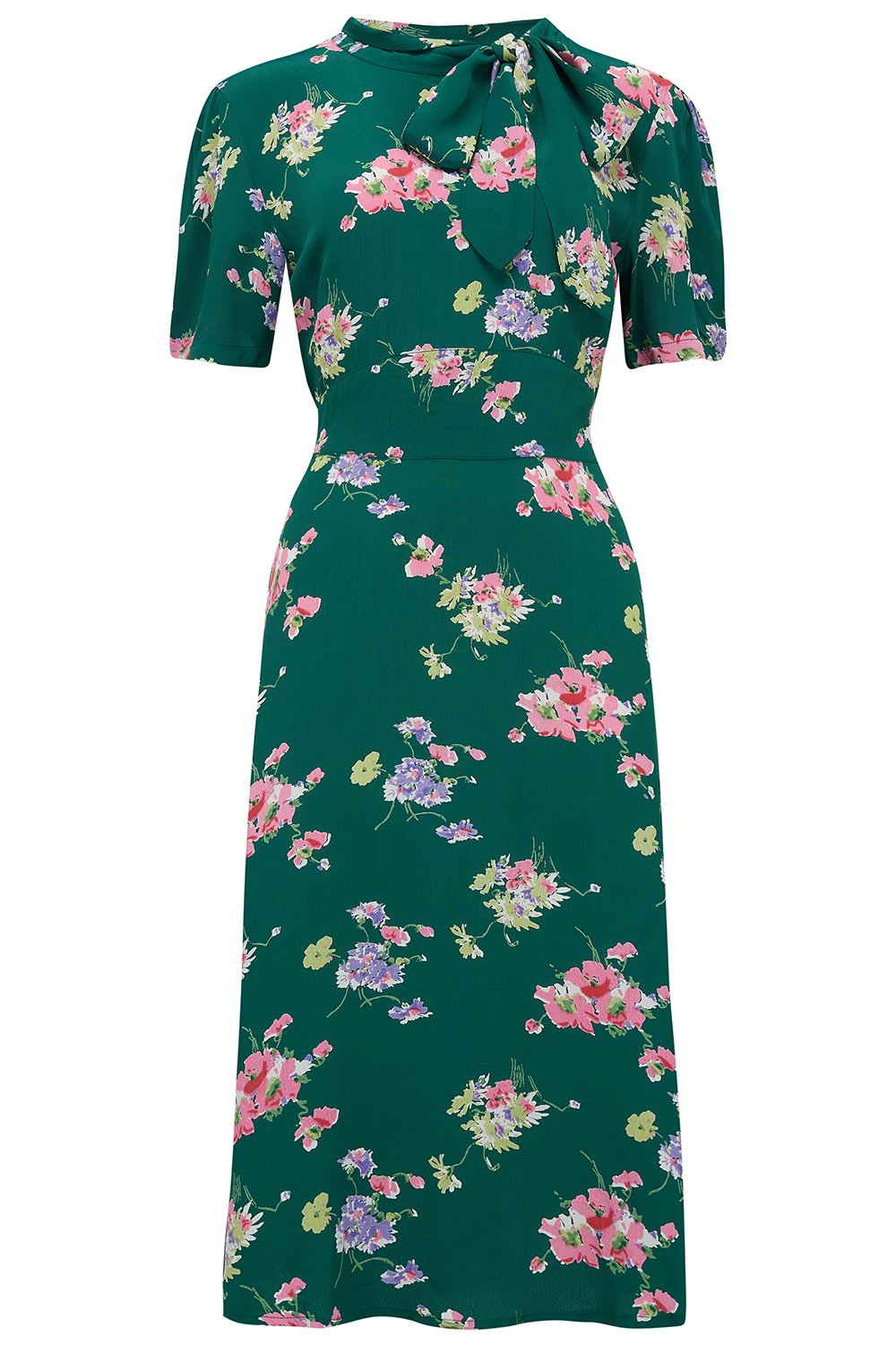 Vintage Style Dresses | Vintage Inspired Dresses Kathy Dress in Green Mayflower A Classic 1940s Inspired True Vintage Style £79.01 AT vintagedancer.com
