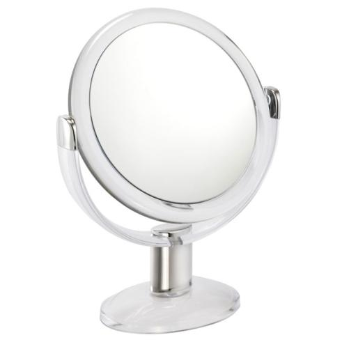 10x Magnification Clear Acrylic Pedestal Mirror