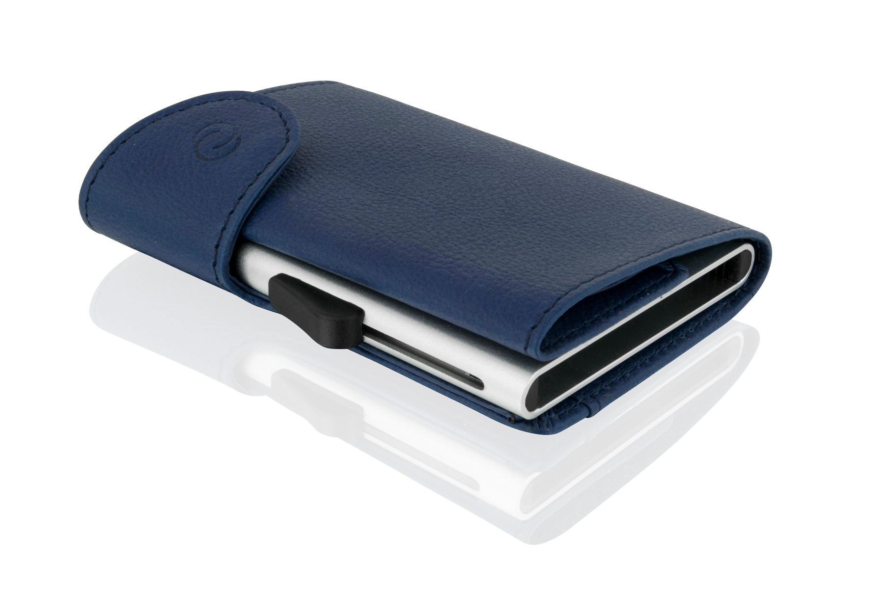 Woodland Leathers Blue Leather Wallet and C-Secure Cardprotector