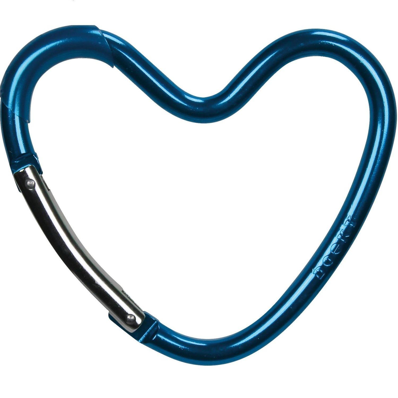 Dooky Buggy/Pram Heart Hook - Blue