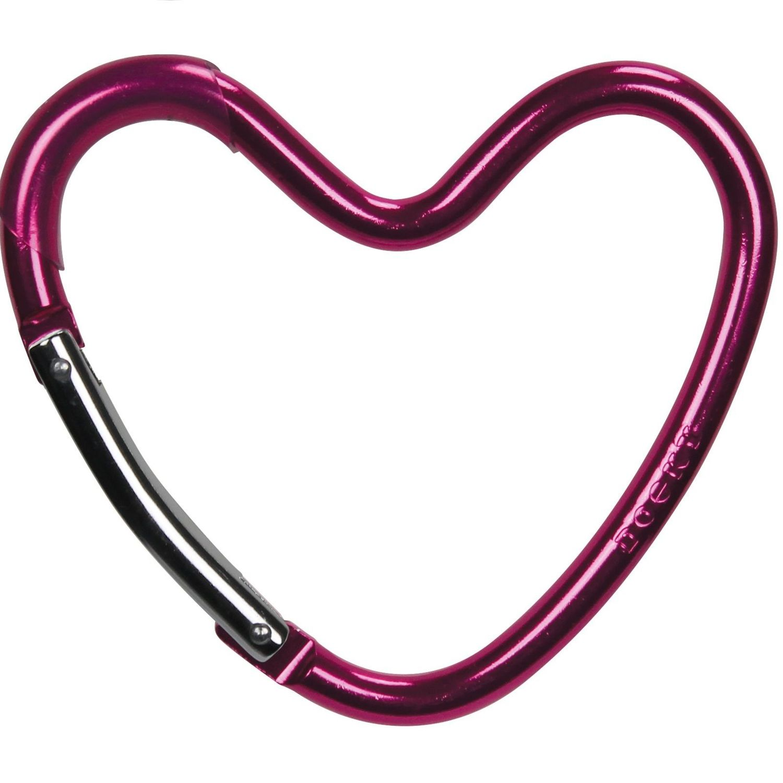 Dooky Buggy/Pram Heart Hook - Pink