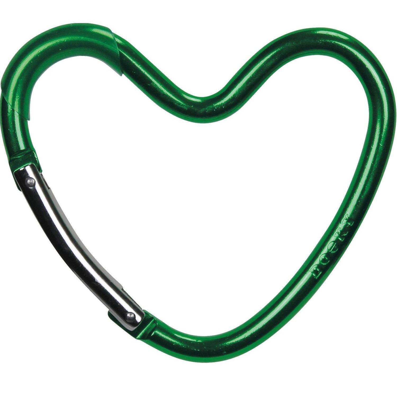 Dooky Buggy/Pram Heart Hook - Green