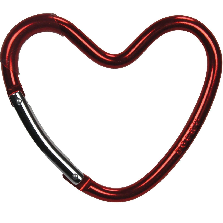 Dooky Buggy/Pram Heart Hook - Red