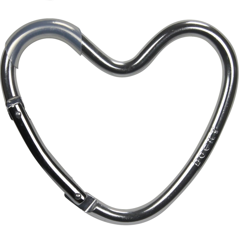 Dooky Buggy/Pram Heart Hook - Silver