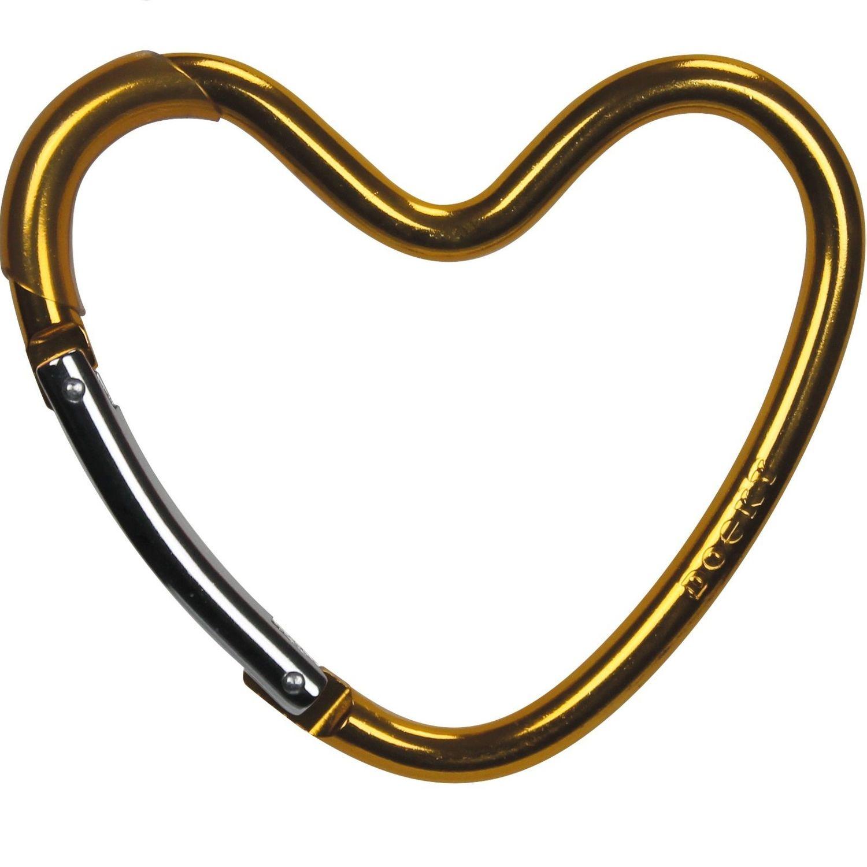 Dooky Buggy/Pram Heart Hook - Gold