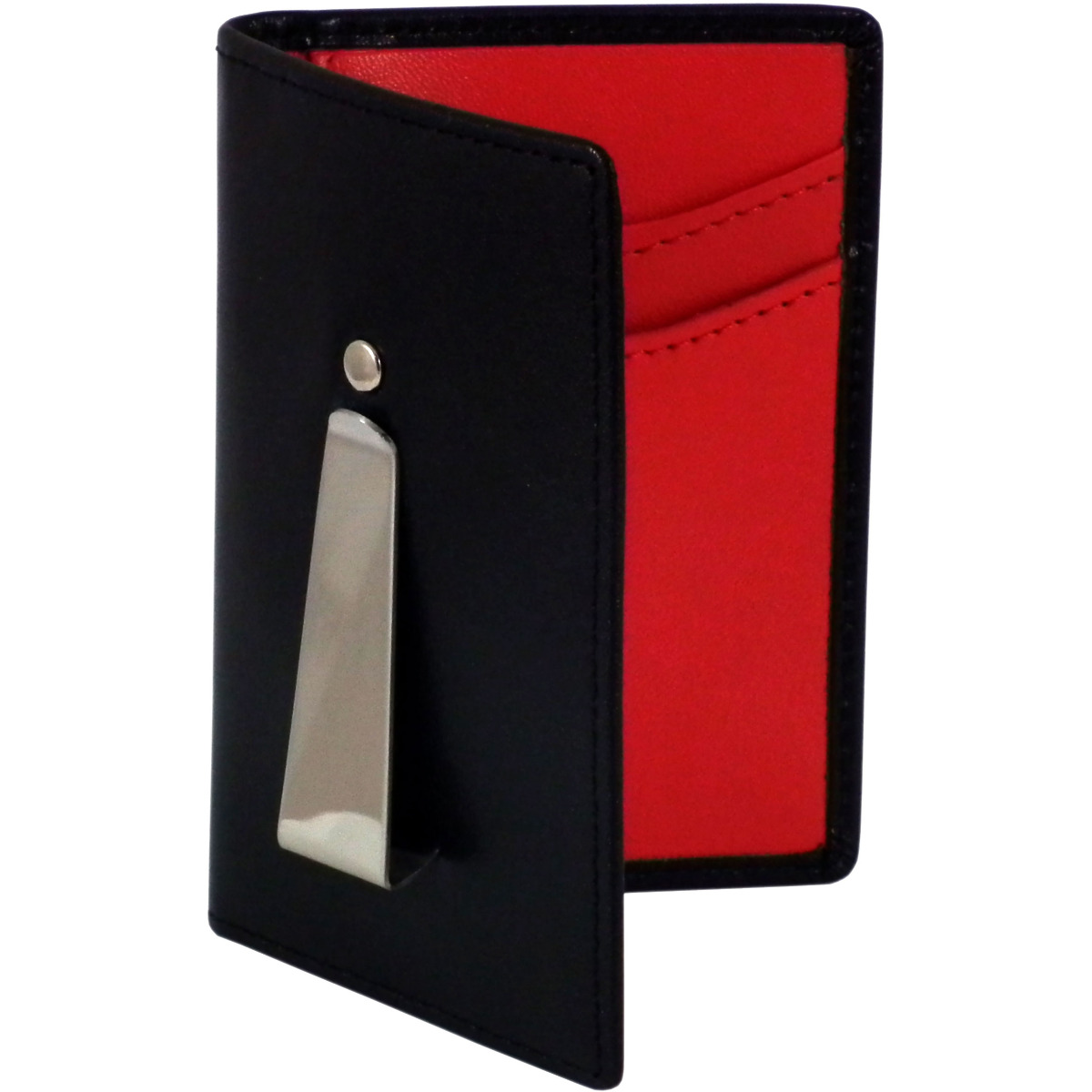 Woodland Leathers Black And Red Leather Continental Wallet