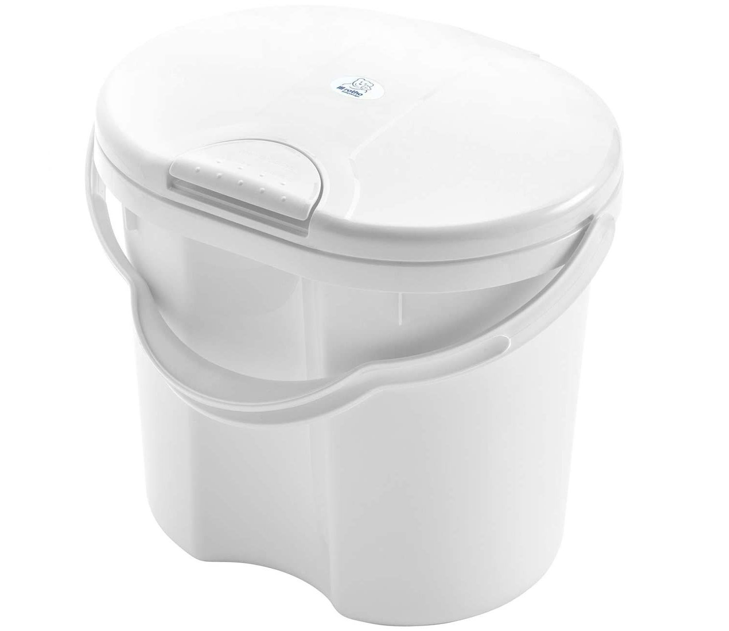 Rotho Babydesign TOP Nappy Bucket With Lid 11 Ltr Capacity - Choose your Colour - White