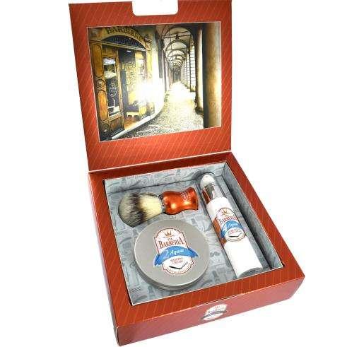 Via Barberia Aquae Shaving Cream And Brush Gift Set