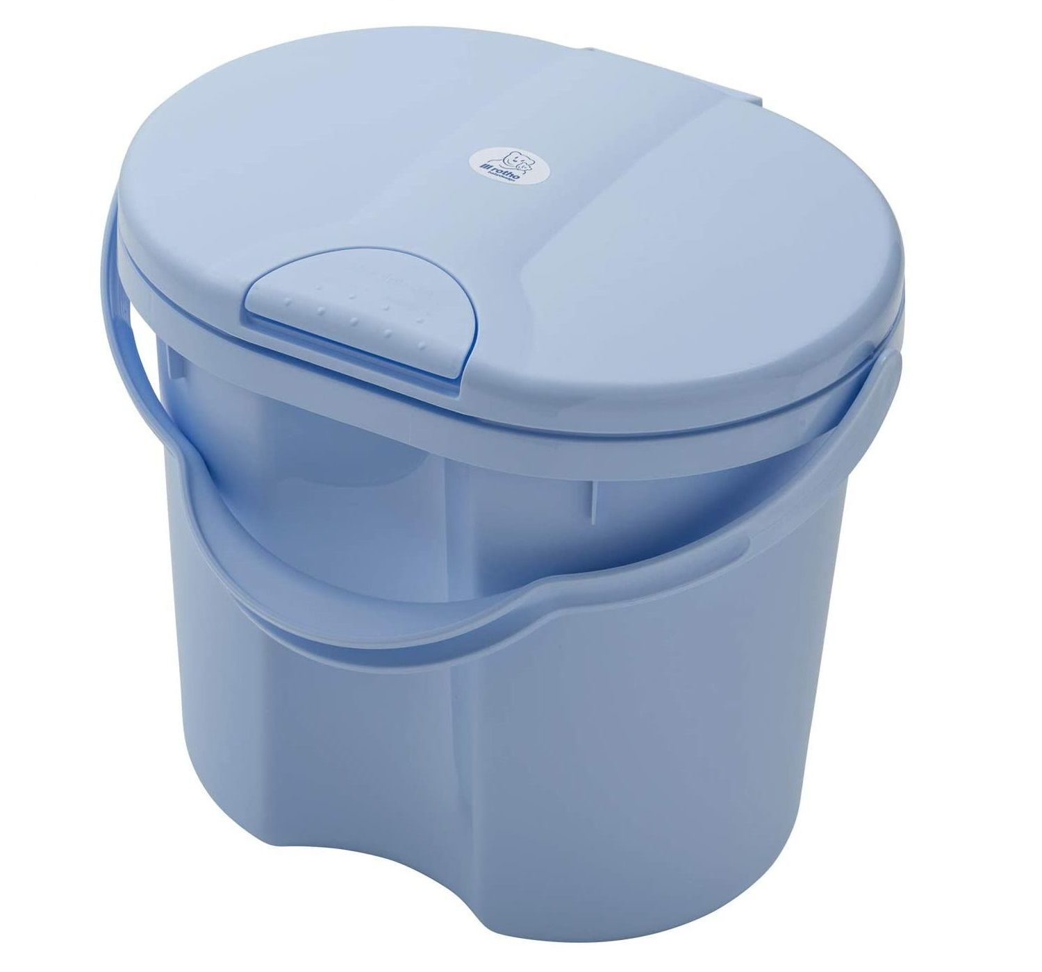 Rotho Babydesign TOP Nappy Bucket With Lid 11 Ltr Capacity - Choose your Colour - Sky Blue