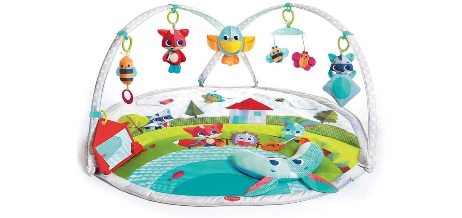 Tiny Love Dynamic Gymini, Baby Play Mat and Activity Gym with Music and Lights, Meadow Days Suitable from Birth