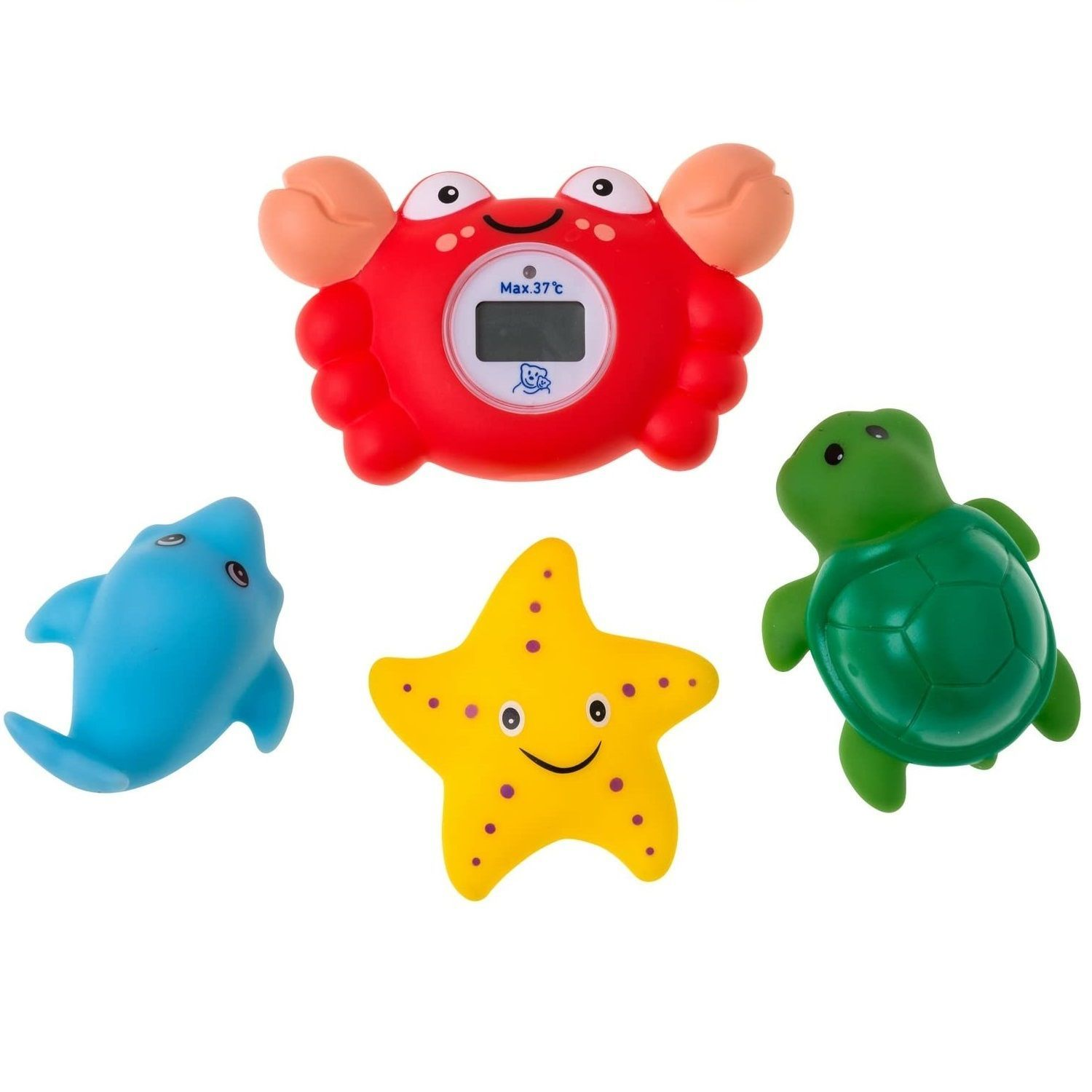 Rotho Babydesign Digital Bath and Room Crab Thermometer and Squirting Animals