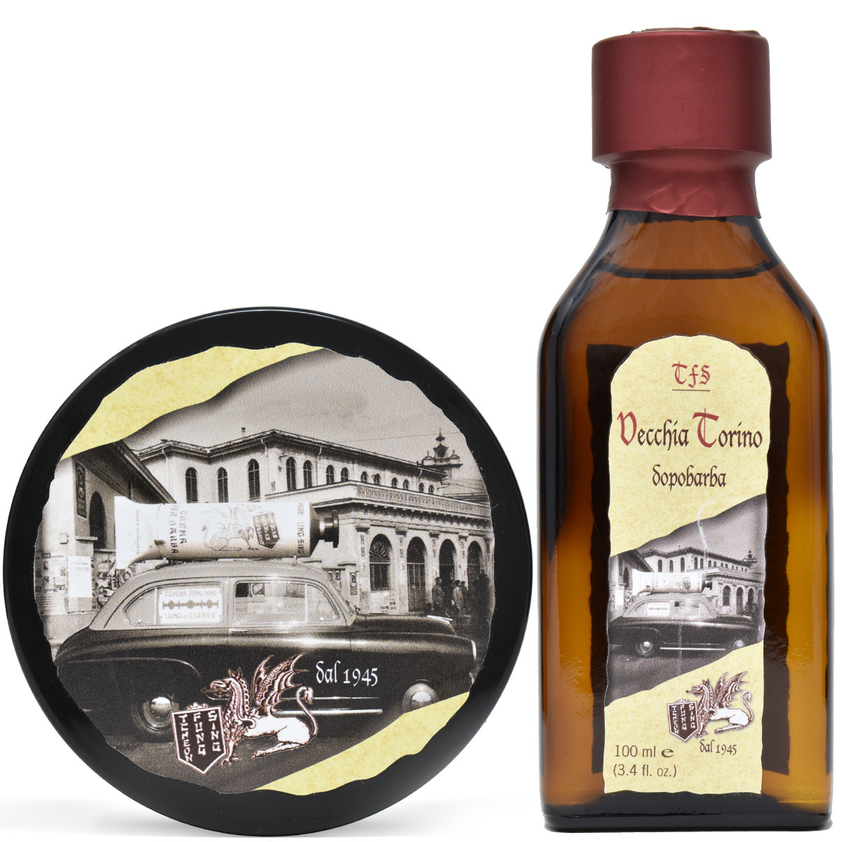 TFS Vecchia Torino Shaving Soap & Aftershave Splash Set