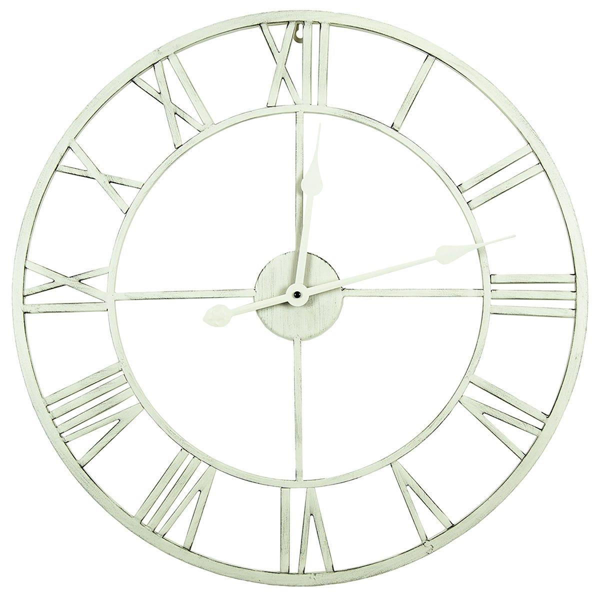 Charles Bentley Indoor Wall Clock Cream 100cm
