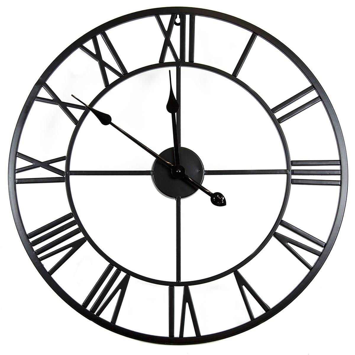 Charles Bentley Indoor Wall Clock Black 100cm