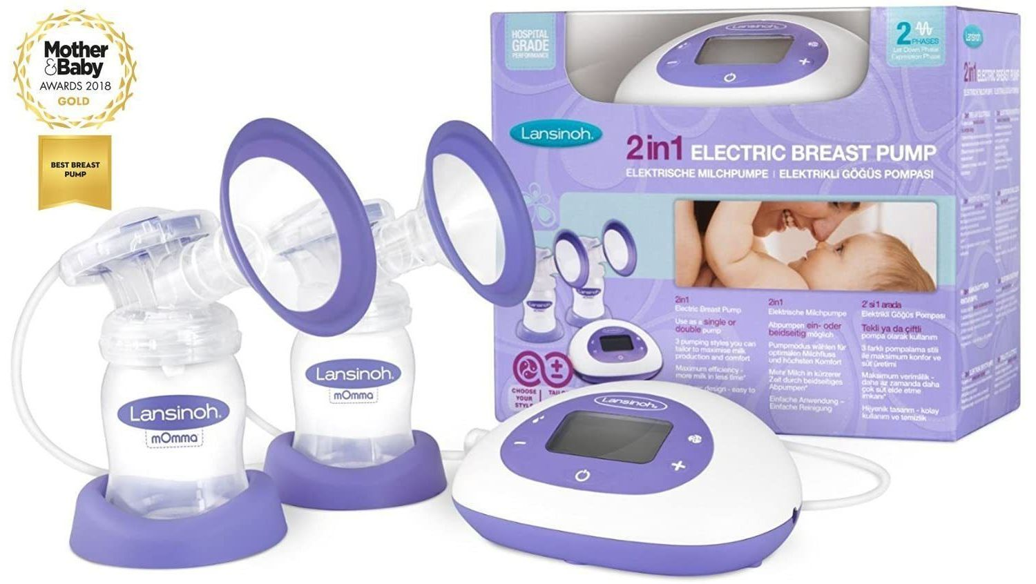 Lansinoh 2 in 1 Double Electric Breast Pump