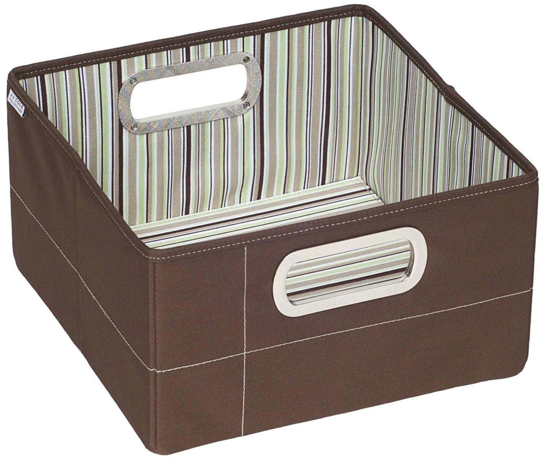 JJ Cole Storage Box Short 6.5inch (Cocoa Stripe)