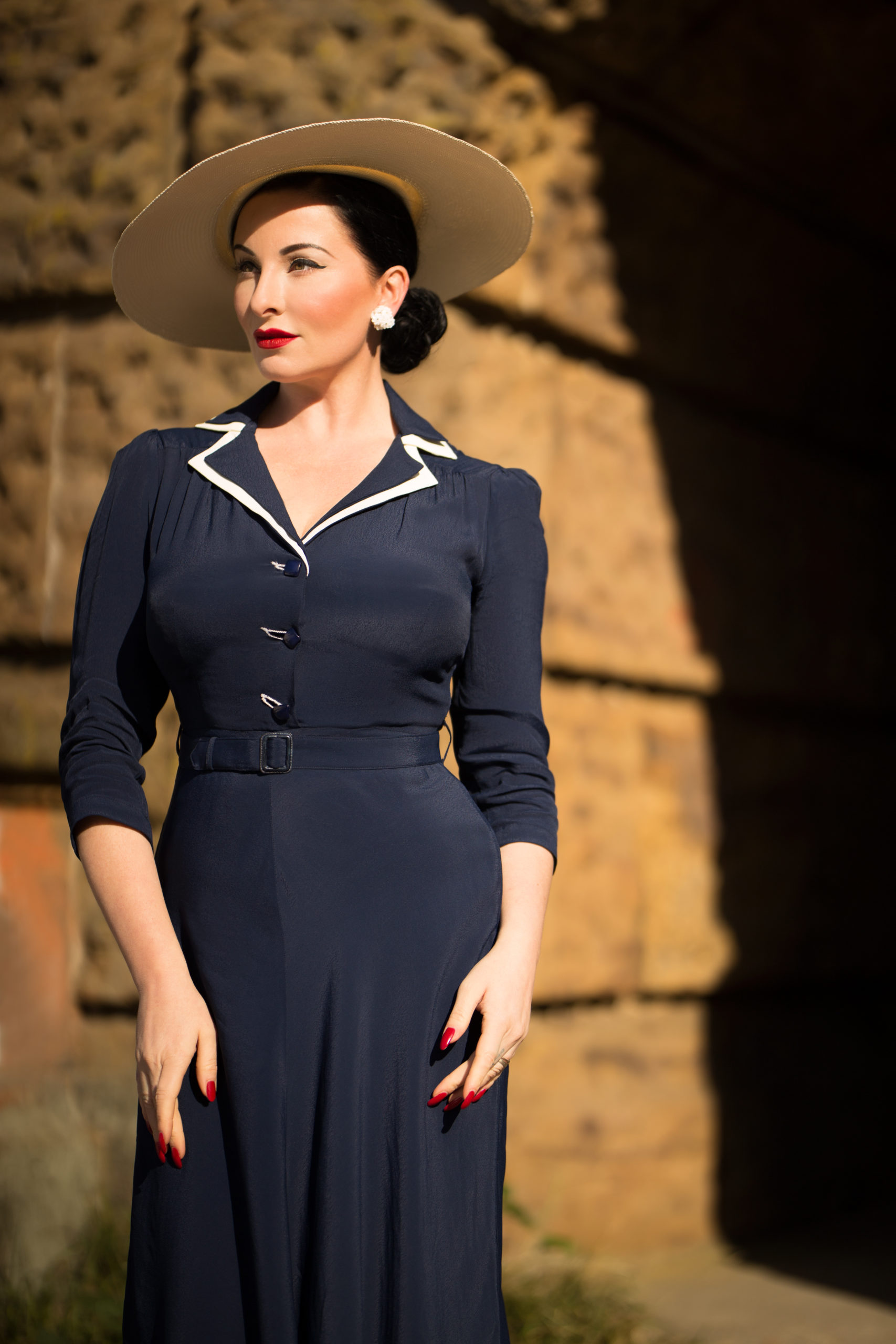 1940s Dresses | 40s Dress, Swing Dress Lisa-Mae Dress £89.00 AT vintagedancer.com