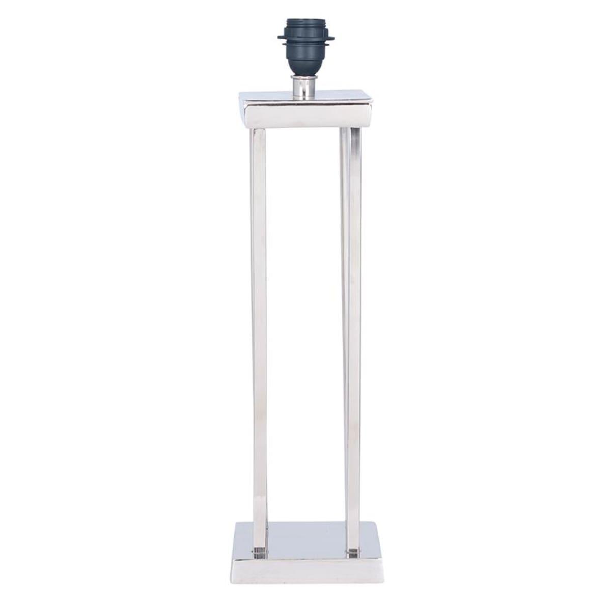 Pacific Lifestyle Pipe Nickel Metal Column Table Lamp