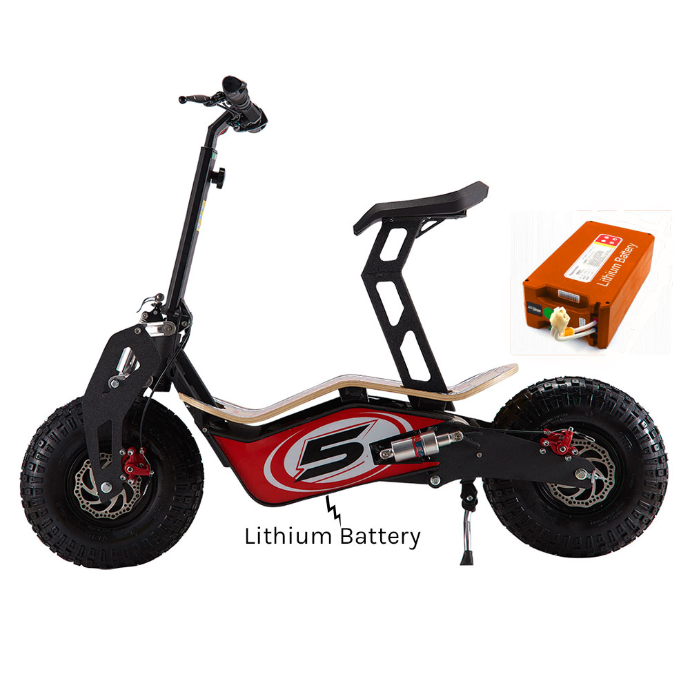 Velocifero Mad 48 Volt 1600w Lithium Battery Red Race