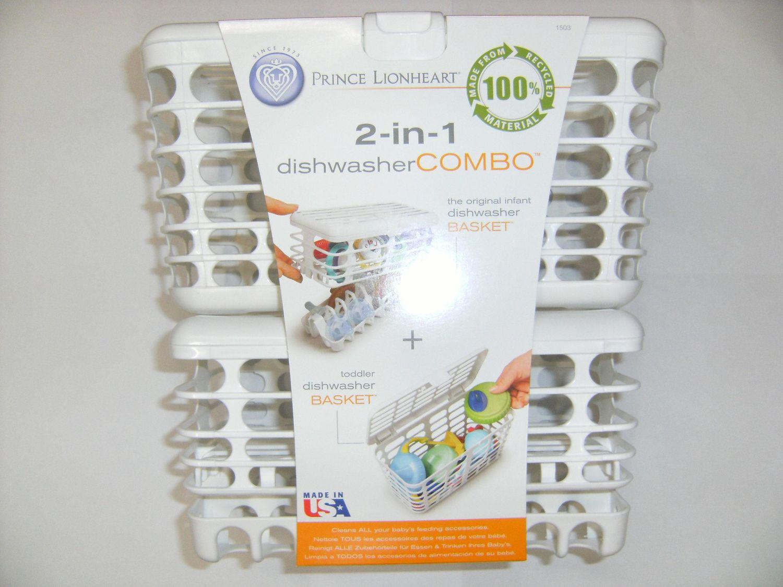 2-in-1 Infant and Toddler Dishwasher Basket Combo