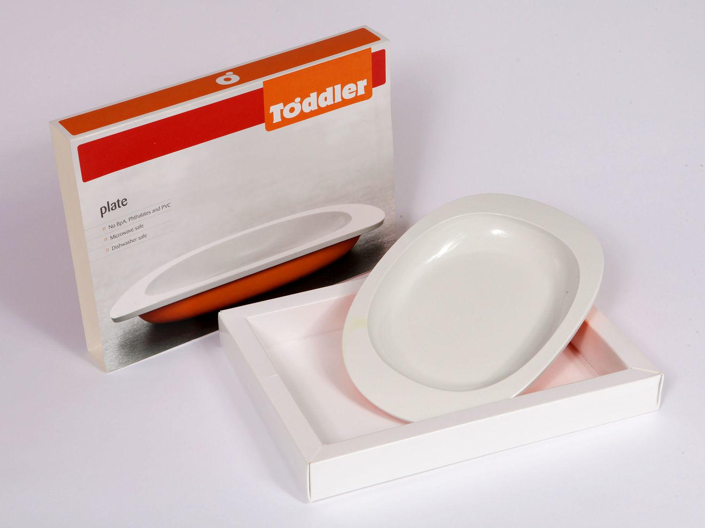 ToddlerTäble Baby First Plate (flat) - Orange