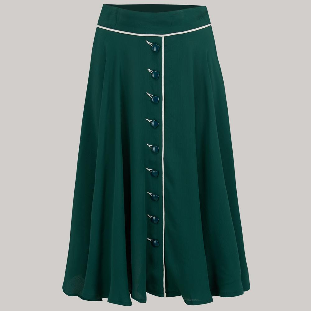 1950s Swing Skirt, Poodle Skirt, Pencil Skirts Rita Skirt - Vintage Green 8 £49.00 AT vintagedancer.com