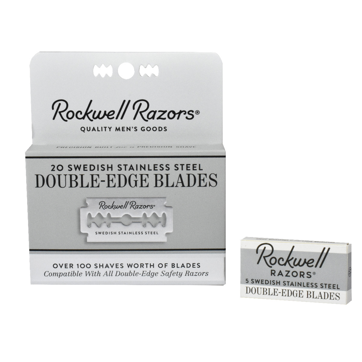 Rockwell 20 Double Edge Safety Razor Blades Trade Pack