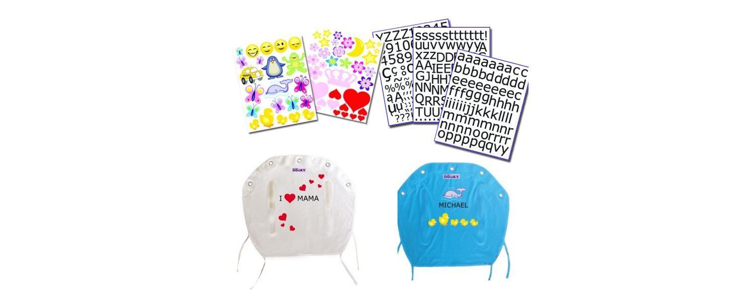 Dooky Stroller Shade Personalisation Kit