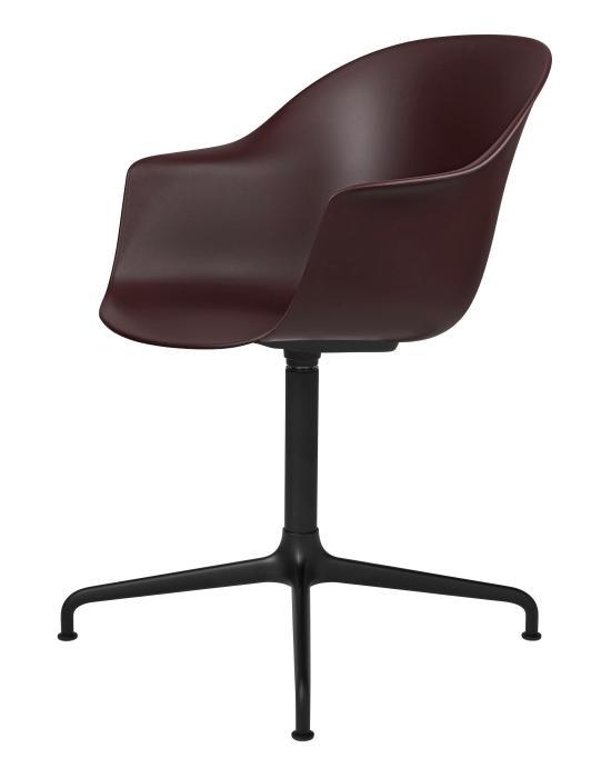 Bat Meeting Chair 4 Star Swivel Base Unupholstered