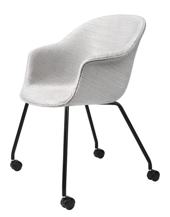 Bat Meeting Chair 4 Legs With Castors Fully Upholstered