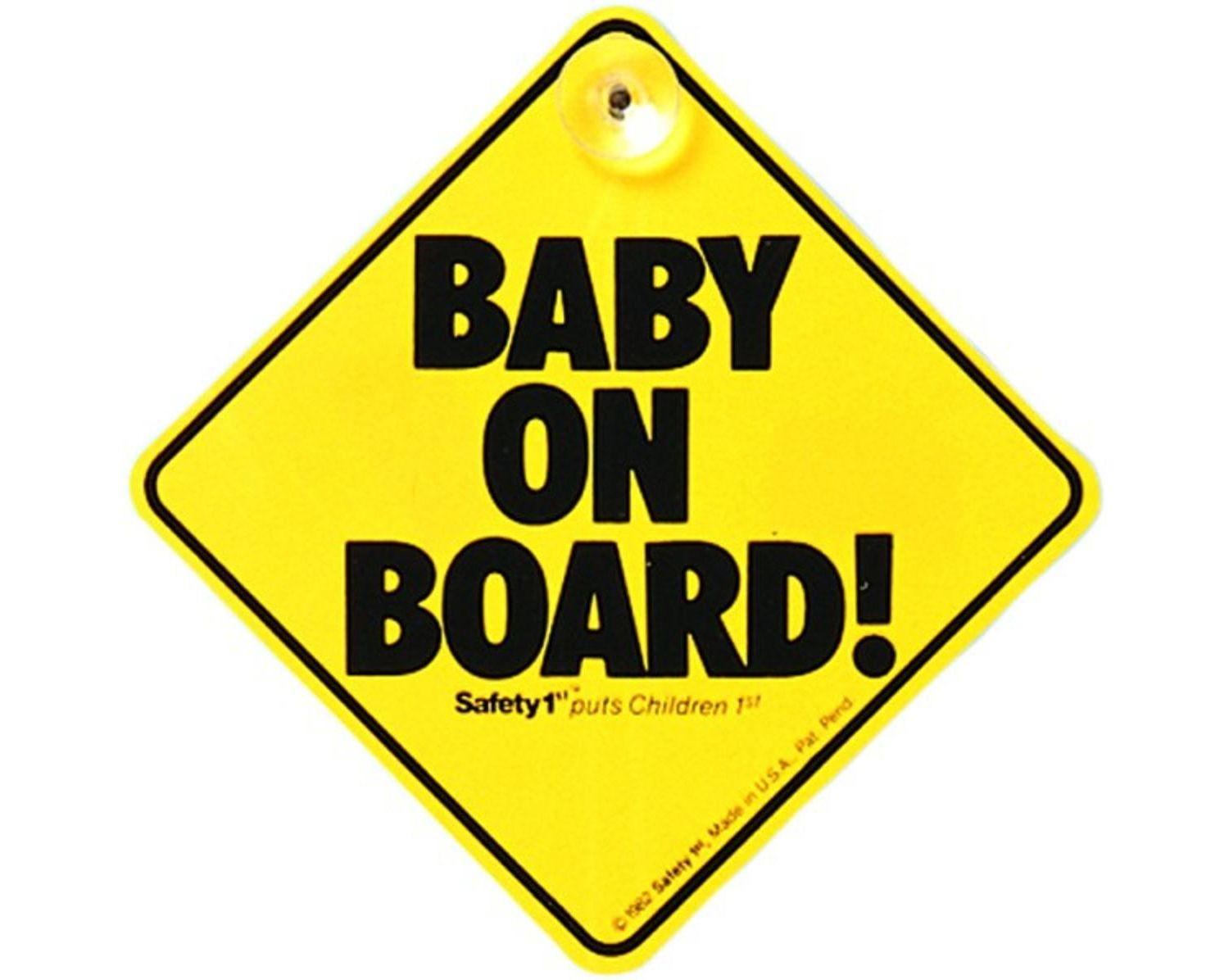 """Safety 1st """"Baby on Board"""" car window sign with suction cup"""