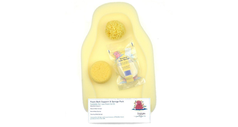 Foam Bath Baby Support & Sponge Pack
