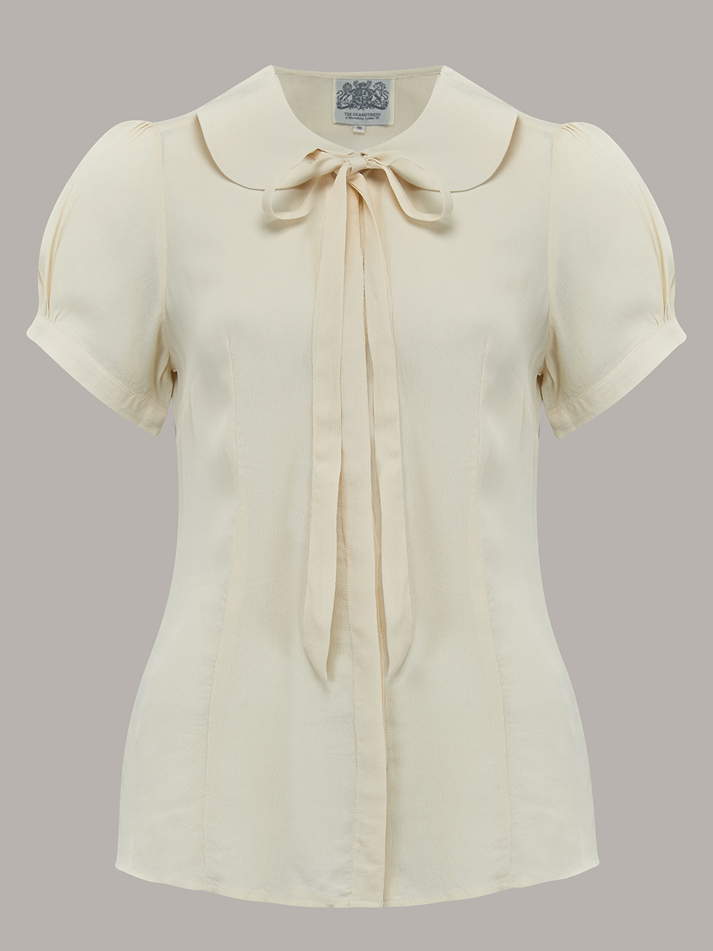 1940s Blouses and Tops Tie Blouse - LiliacPink Flower 8 £39.00 AT vintagedancer.com