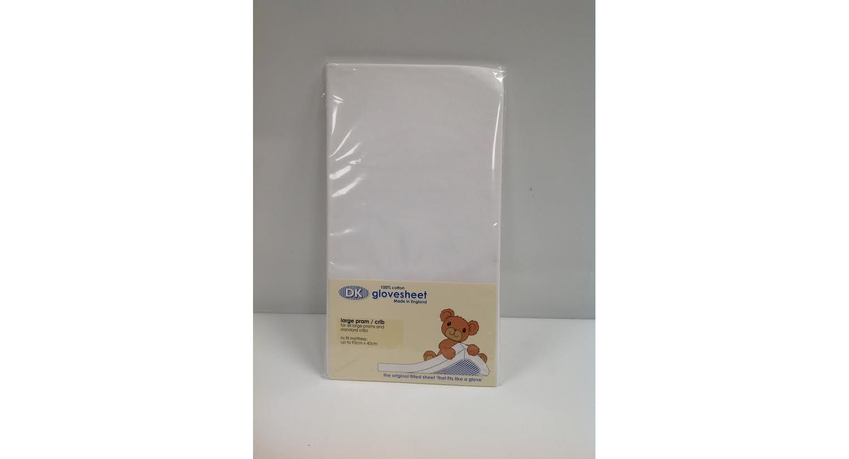 DK Pram Fitted Sheet Cream 79x38 cm