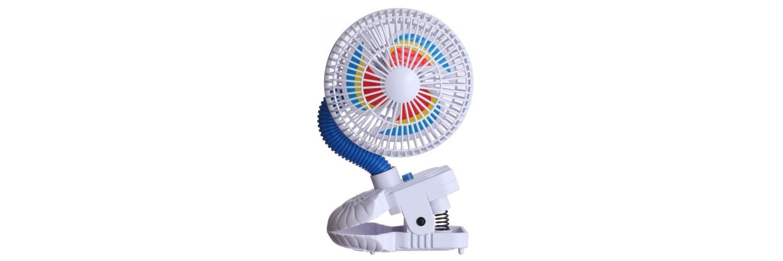 Kel Gar Pinwheel Clip On Fan Baby Pram Stroller High Chair Air Cooler & Breezer