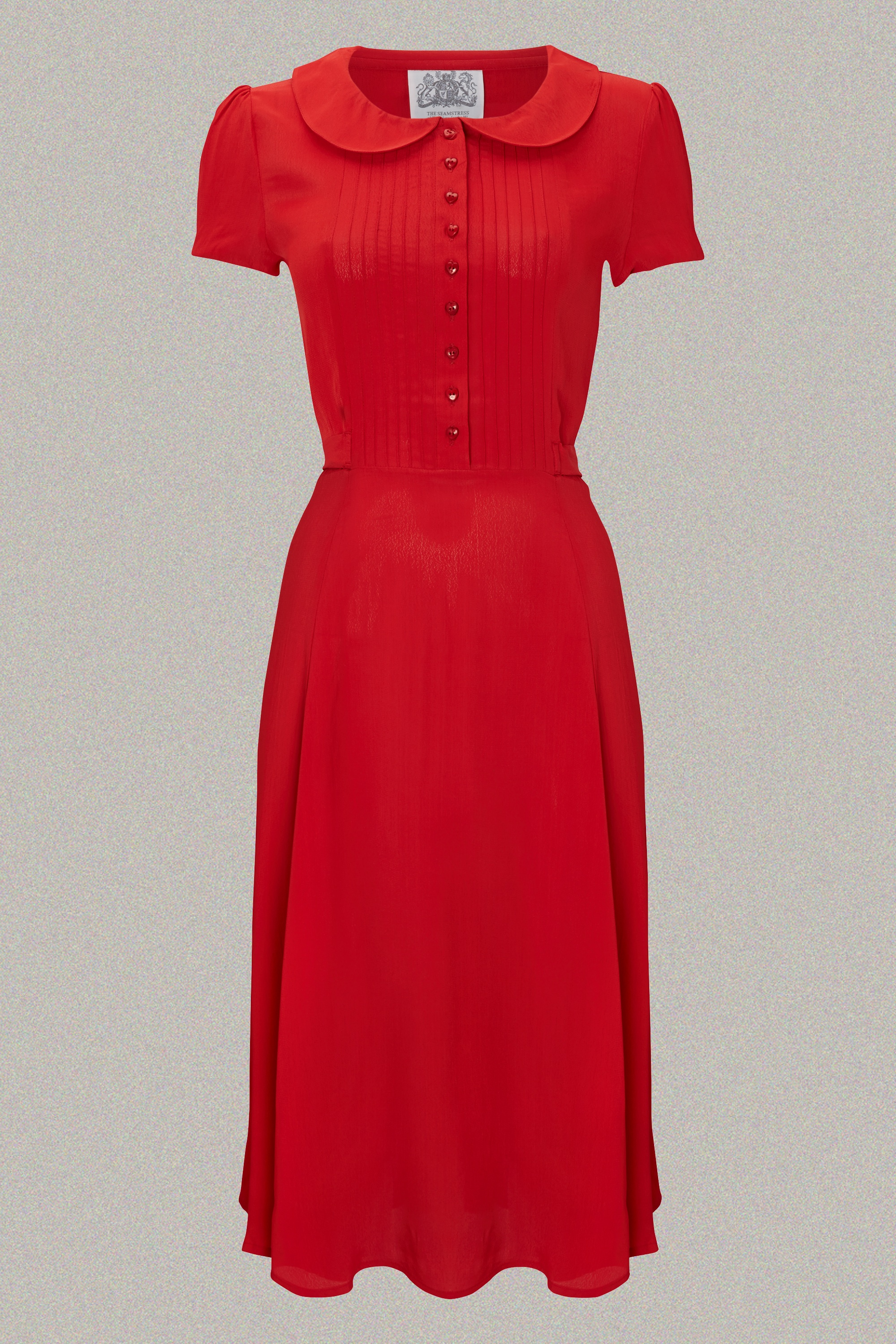 1940s Dresses | 40s Dress, Swing Dress Dorothy Dress - Red 8 £79.00 AT vintagedancer.com