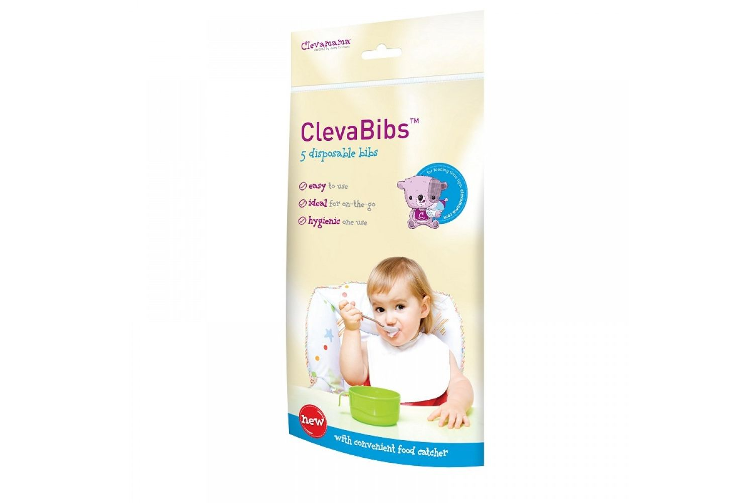 Clevamama Clevabibs pack of 5 disposal bibs