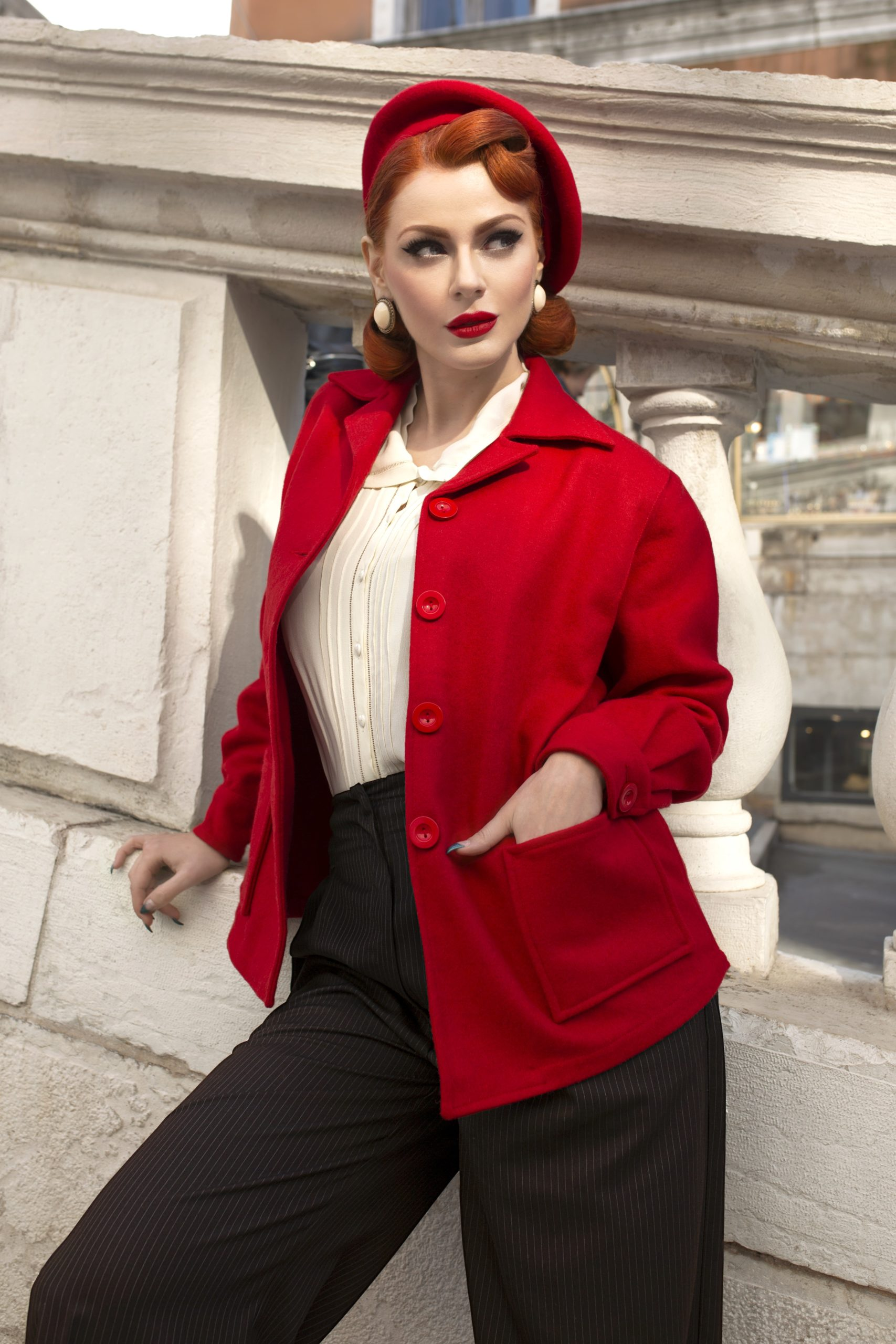 1940s Coats & Jackets Fashion History Pearl Jacket £85.00 AT vintagedancer.com
