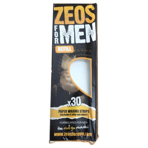 Zeos For Men Paper Waxing Strips (30) - Damaged Box