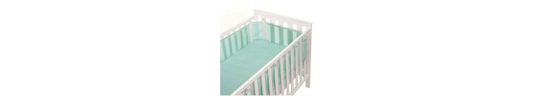 Breathable Baby Mesh Cot Liner - Aqua