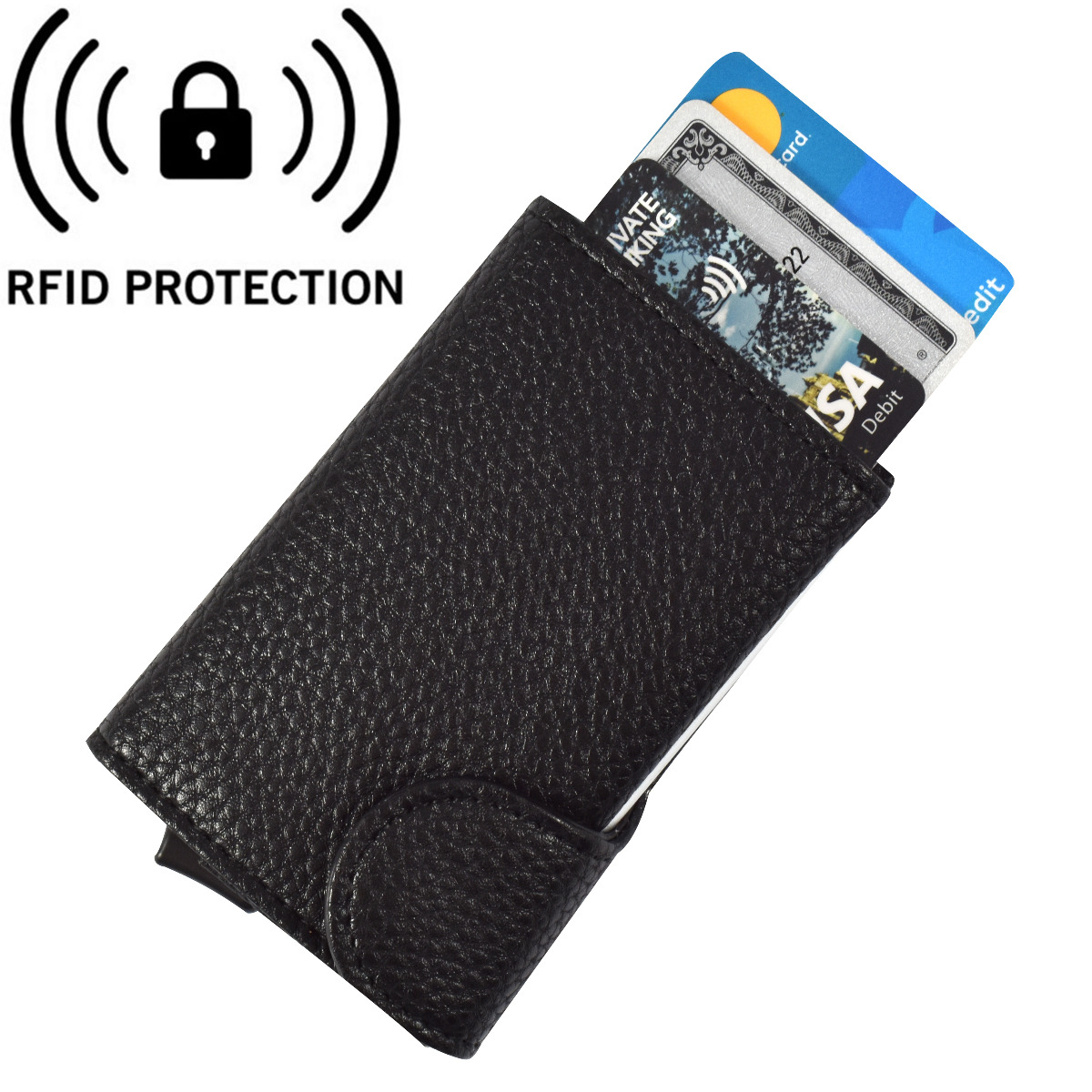 Bee-Secure Black Cardprotector and Wallet - RFID