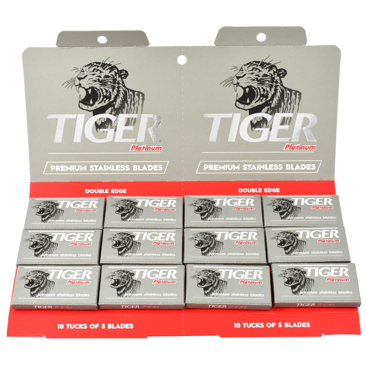 Tiger Platinum 100 Safety Razor Blades Trade Pack