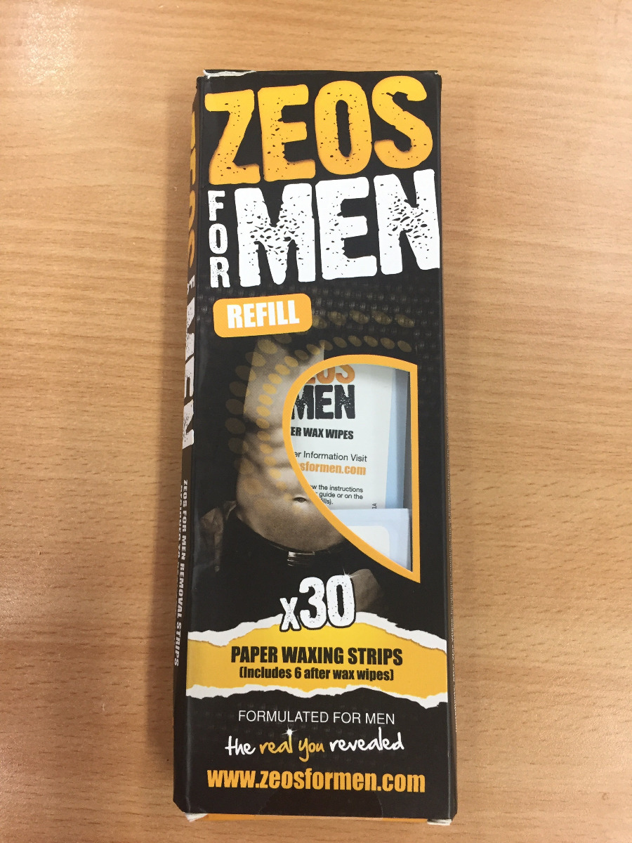 Zeos For Men Paper Waxing Strips (30) - Damaged