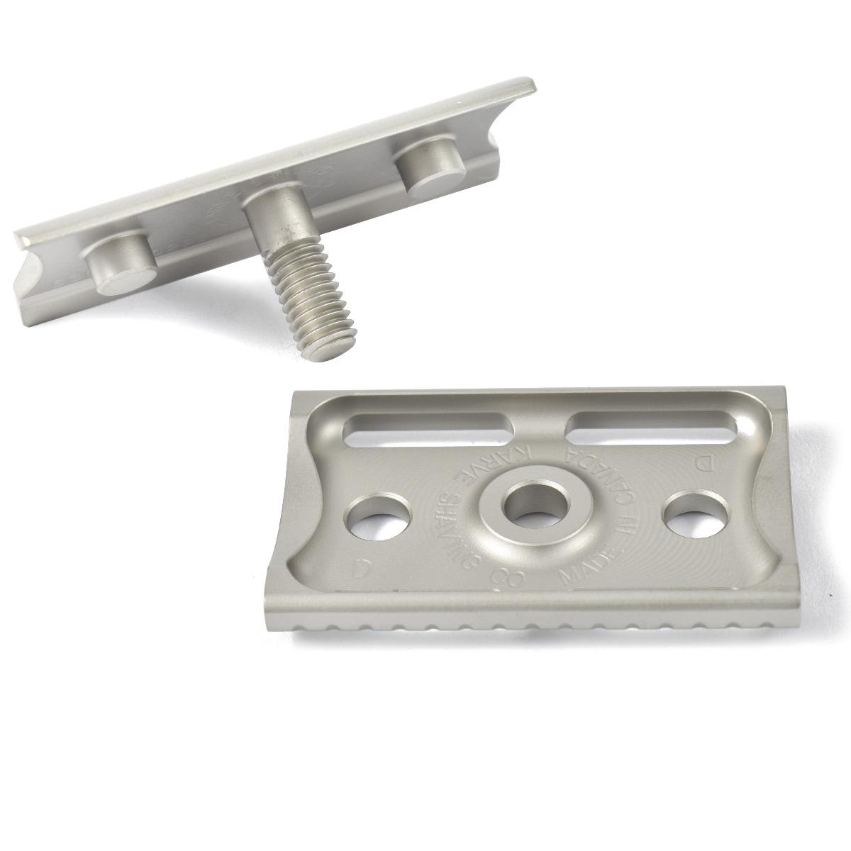 Karve Christopher Bradley Razor Stainless Steel Head D Plate