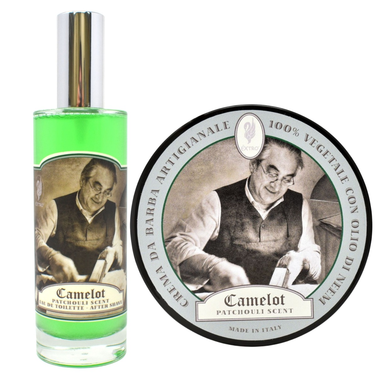 Extro Cosmesi Camelot Shaving Cream & Aftershave Set