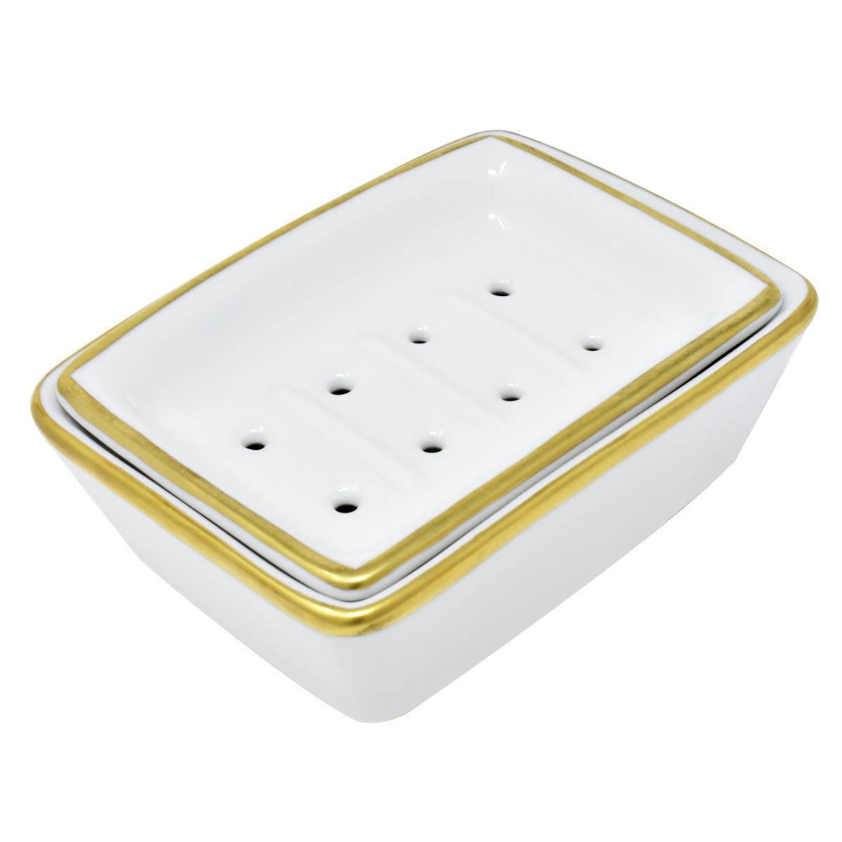 Lindner Handmade Gold Plated Porcelain Soap Dish