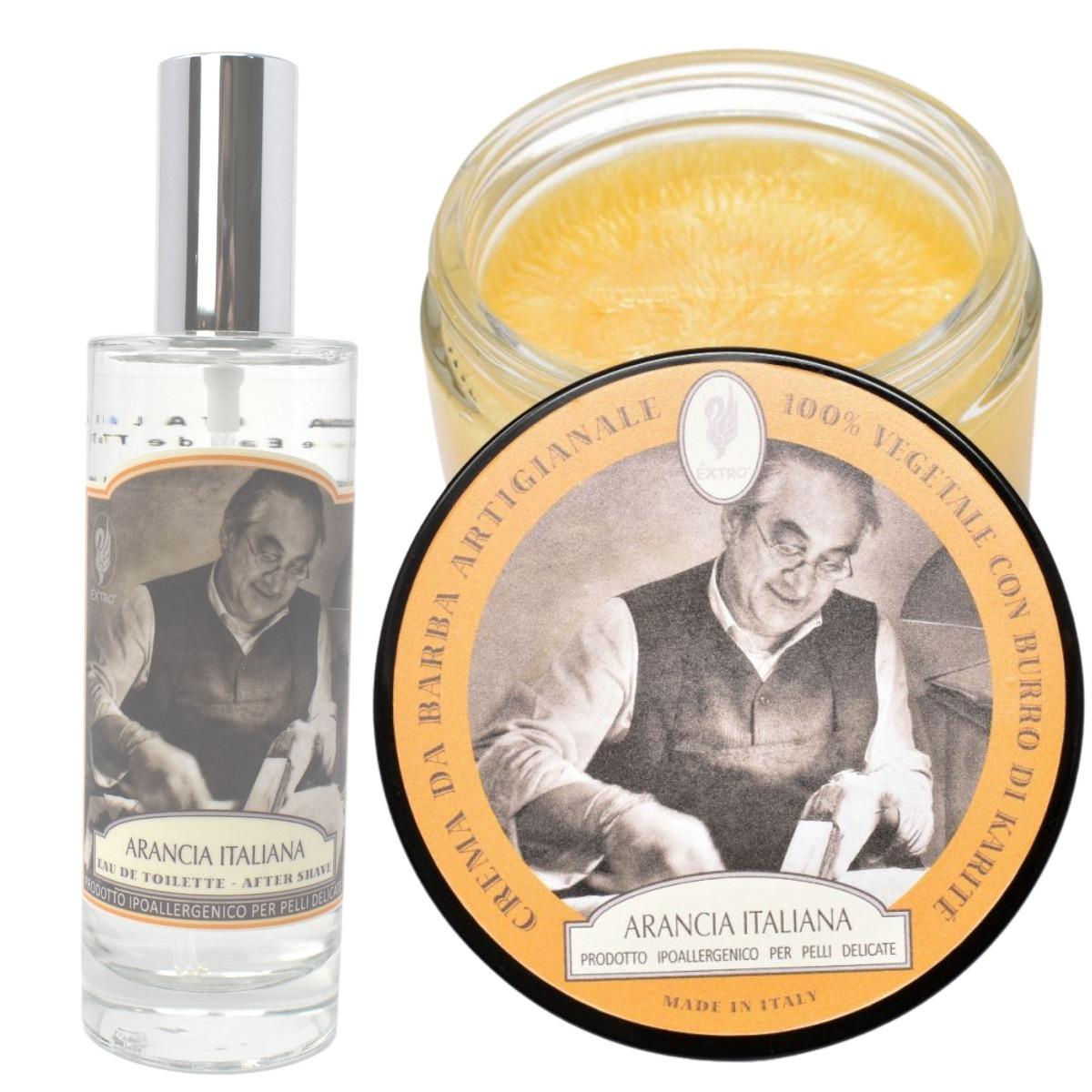 Extro Cosmesi Arancia Shaving Cream & Aftershave Splash Set