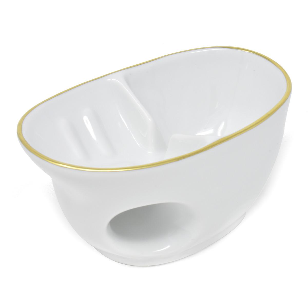 Lindner Handmade Porcelain & Gold Shaving Bowl