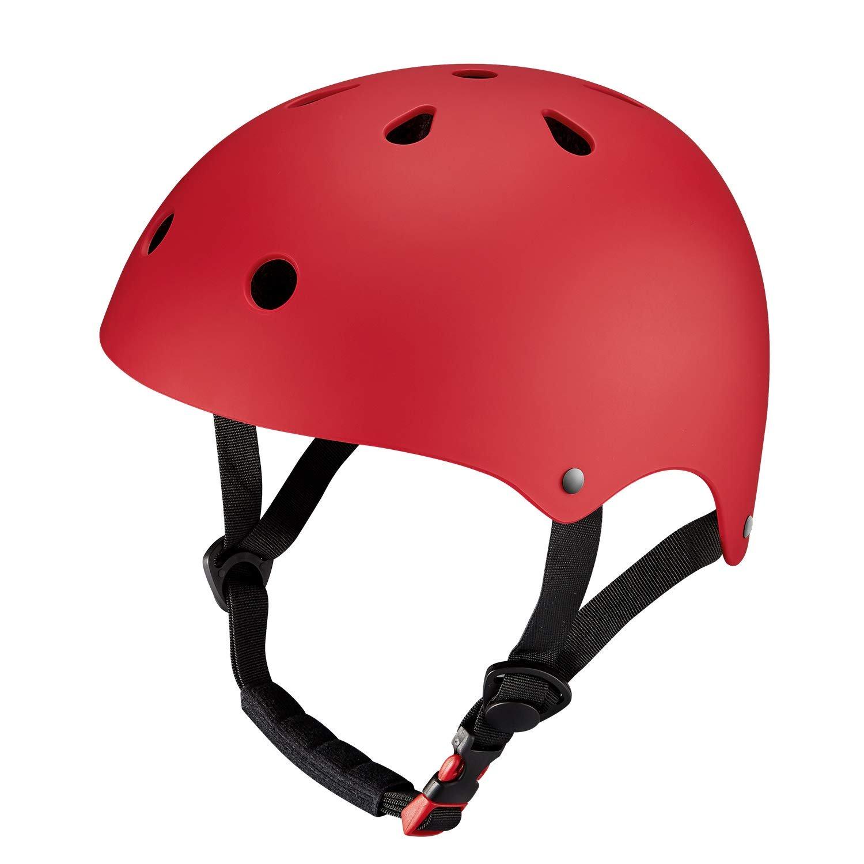 Chaos Kids Scooter Helmet Matte Red